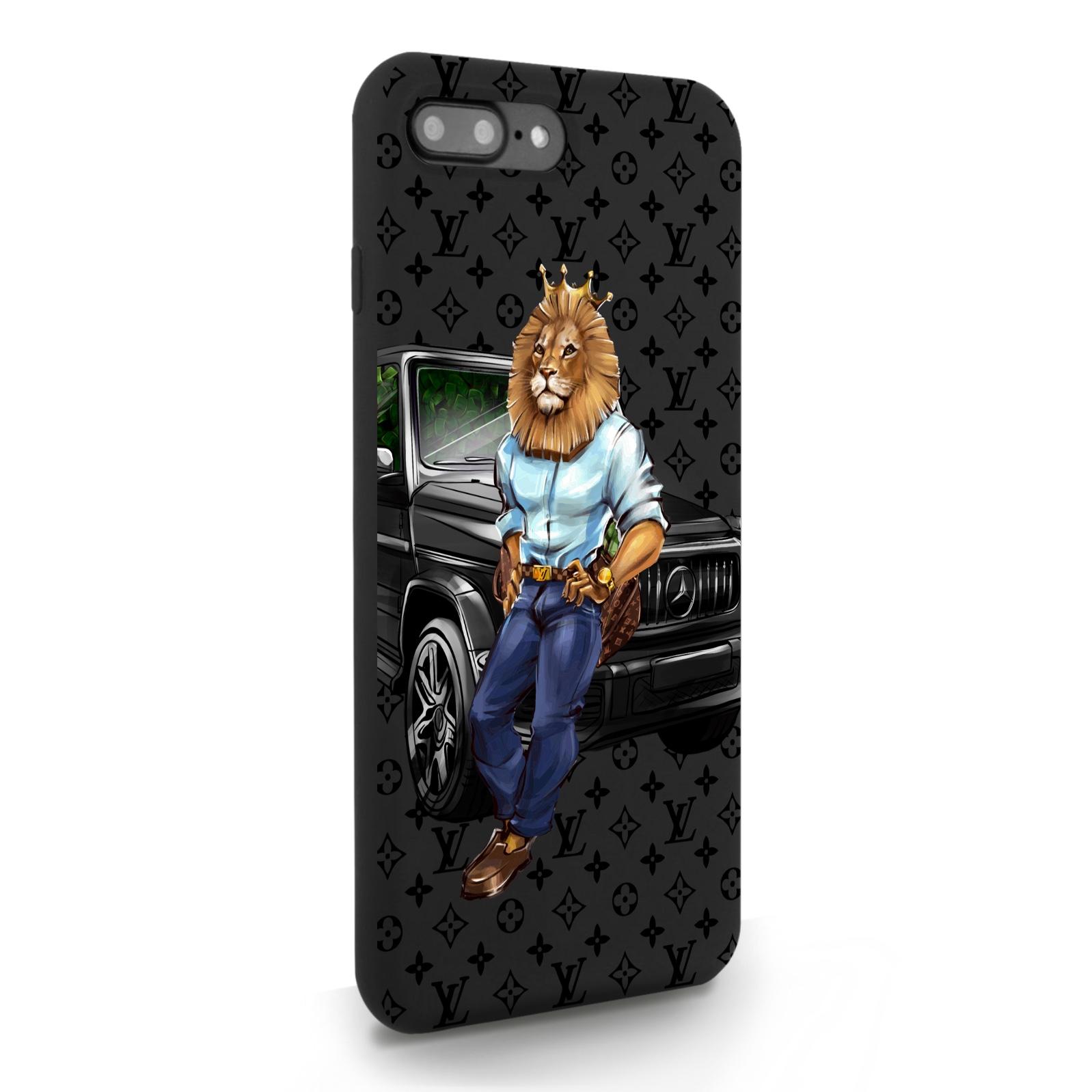 Черный силиконовый чехол для iPhone 7/8 Plus Lion Business для Айфон 7/8 Плюс