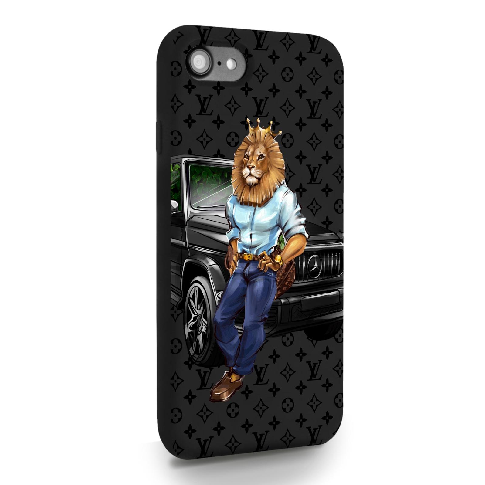 Черный силиконовый чехол для iPhone 7/8/SE2020 Lion Business для Айфон 7/8/СЕ2020