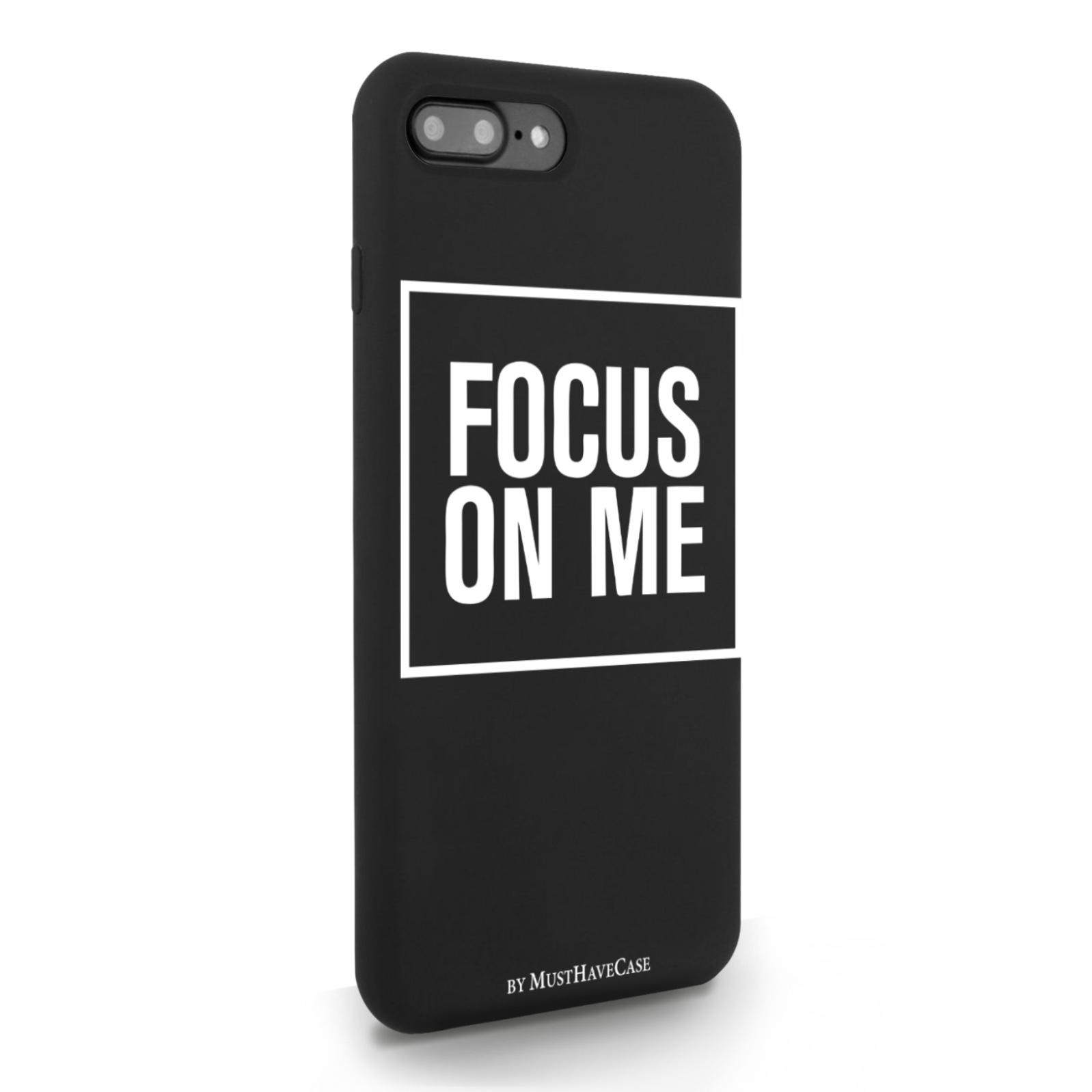 Черный силиконовый чехол для iPhone 7/8 Plus Focus on me для Айфон 7/8 Плюс