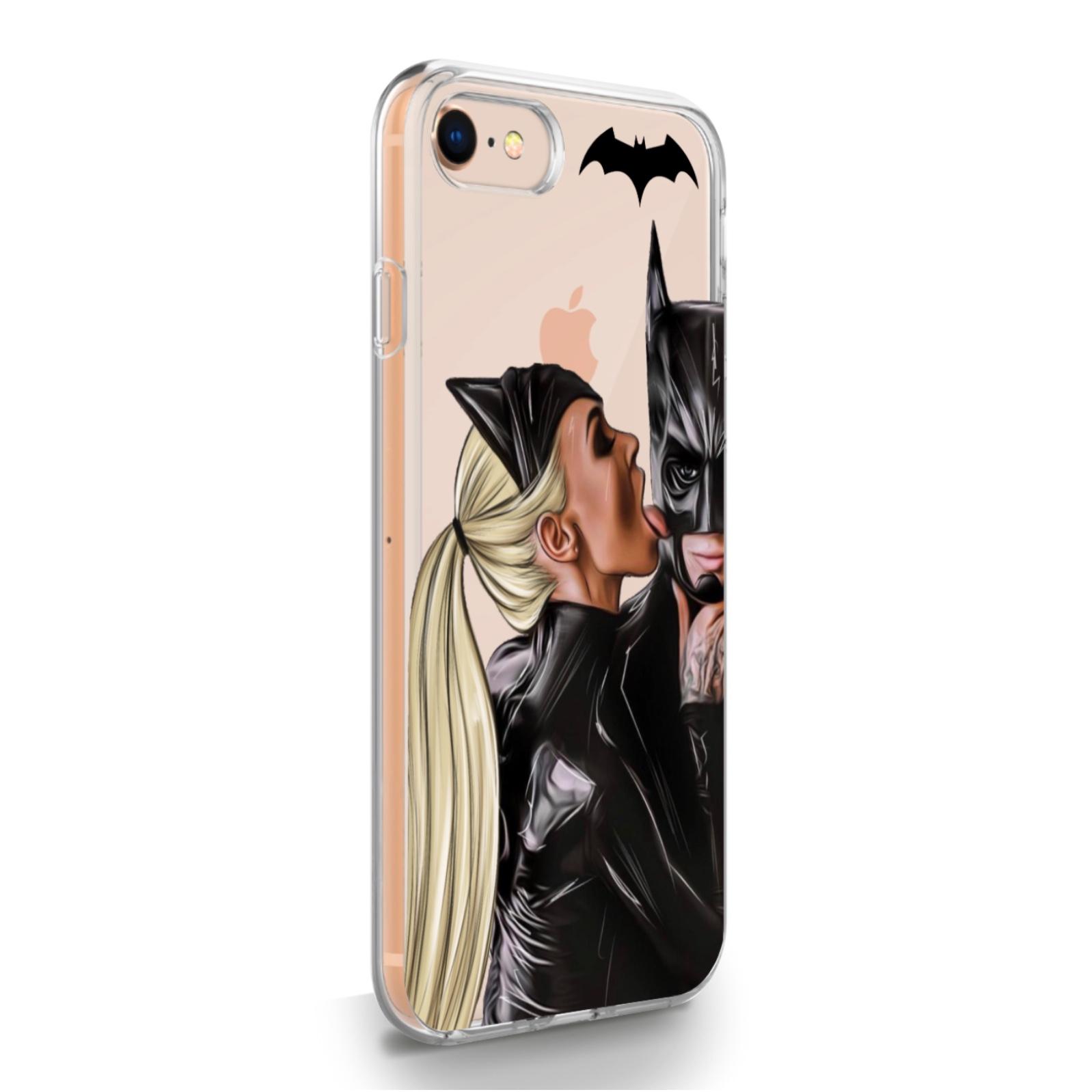 Прозрачный силиконовый чехол для iPhone 7/8/SE2020 Cat Woman/ Женщина кошка Блондинка для Айфон 7/8/СЕ2020