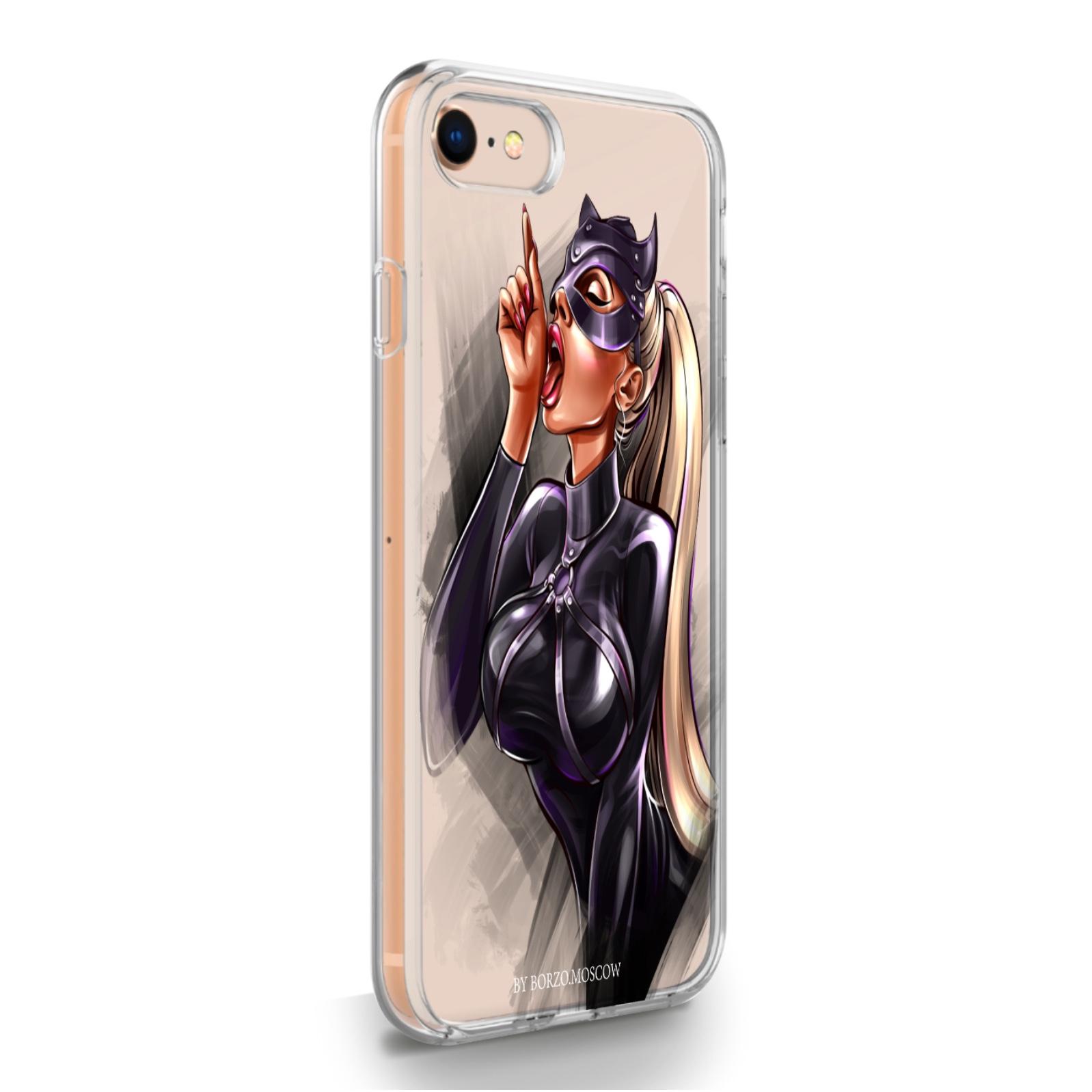 Прозрачный силиконовый чехол для iPhone 7/8/SE2020 Kitty/ Кошечка для Айфон 7/8/СЕ2020