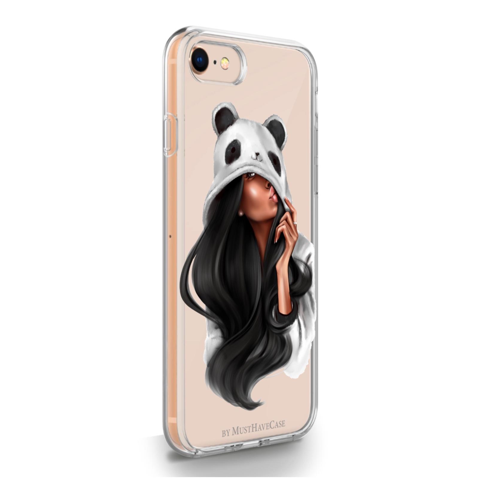 Прозрачный силиконовый чехол для iPhone 7/8/SE2020 Panda Girl для Айфон 7/8/СЕ2020 Панда