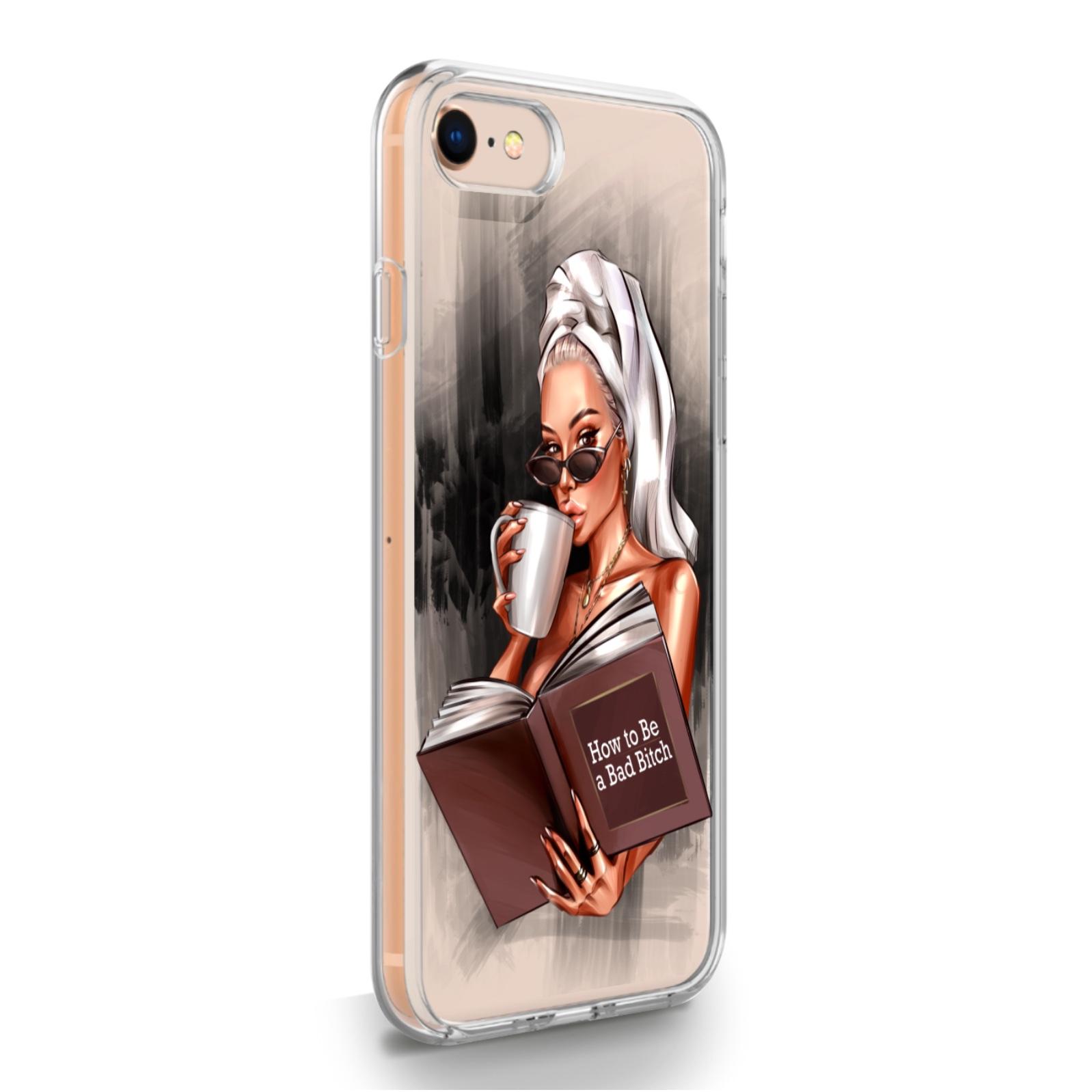 Прозрачный силиконовый чехол для iPhone 7/8/SE2020 How to be a bad Bitch для Айфон 7/8/СЕ2020