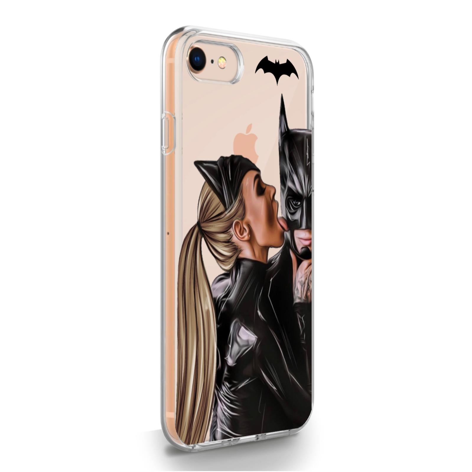 Прозрачный силиконовый чехол для iPhone 7/8/SE2020 Cat Woman/ Женщина кошка Русая для Айфон 7/8/СЕ2020