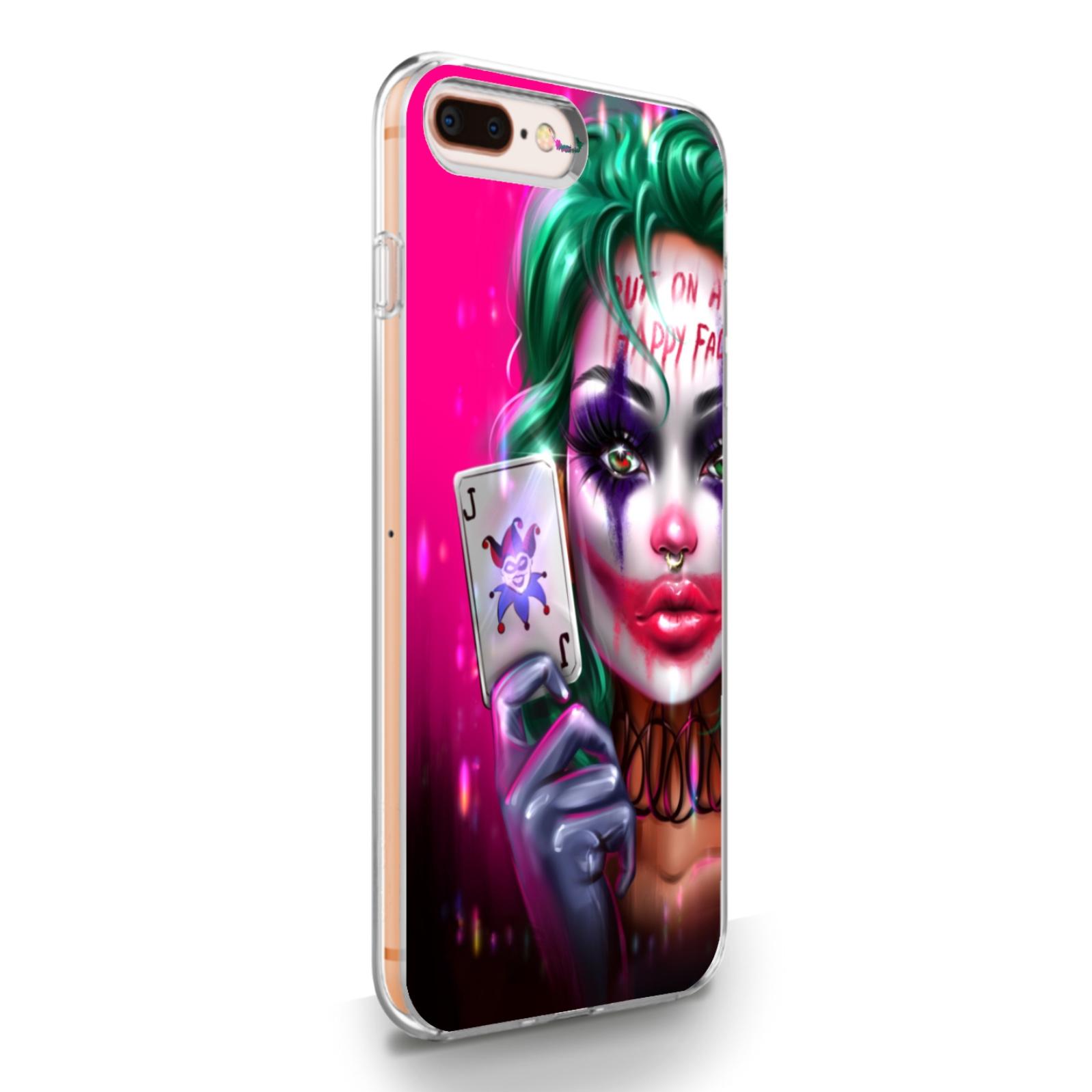 Прозрачный силиконовый чехол для iPhone 7/8 Plus JokerGirl/ Харли Квин для Айфон 7/8 Плюс