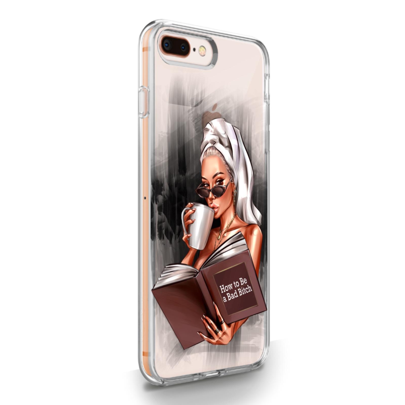 Прозрачный силиконовый чехол для iPhone 7/8 Plus How to be a bad Bitch для Айфон 7/8 Плюс
