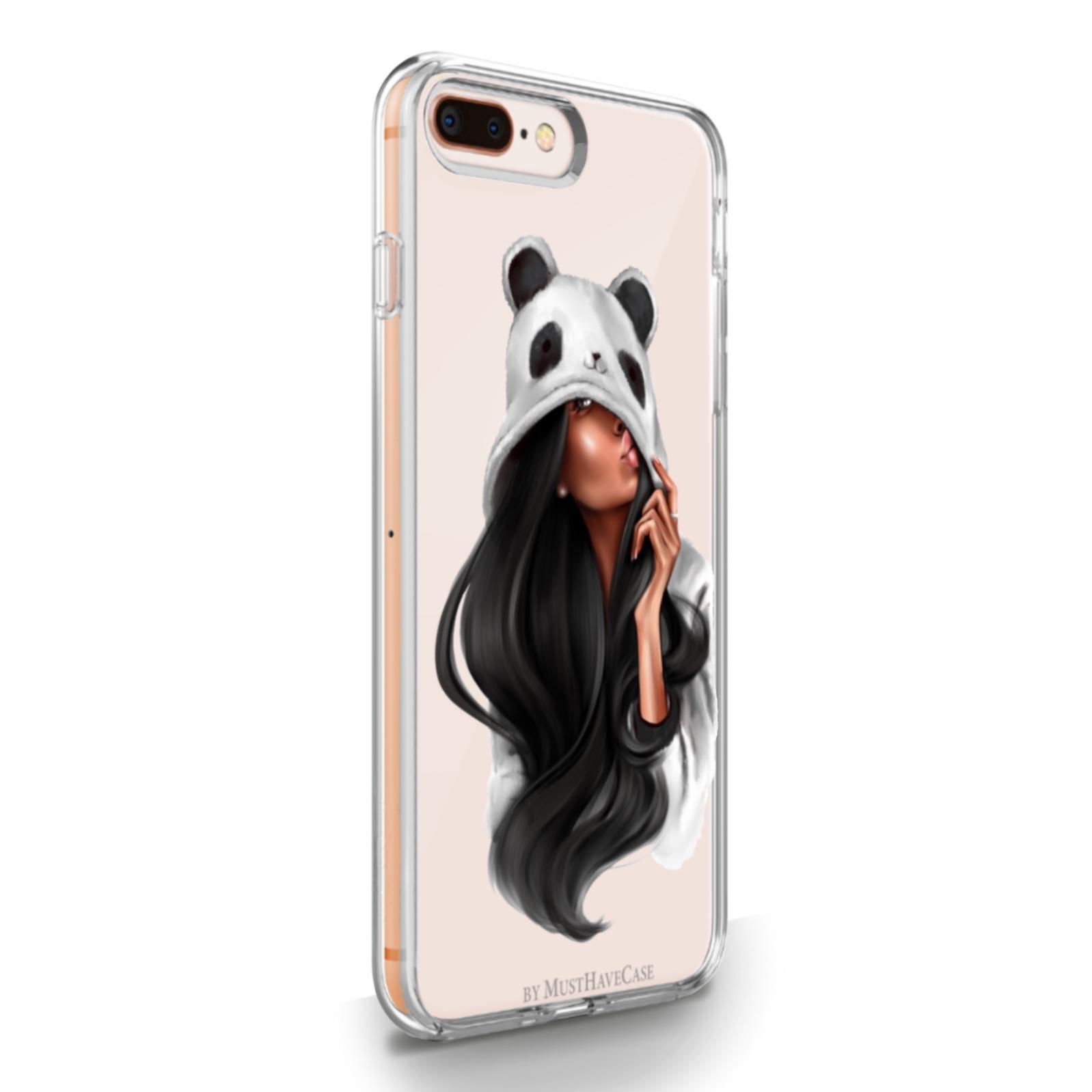 Прозрачный силиконовый чехол для iPhone 7/8 Plus Panda Girl для Айфон 7/8 Плюс Панда