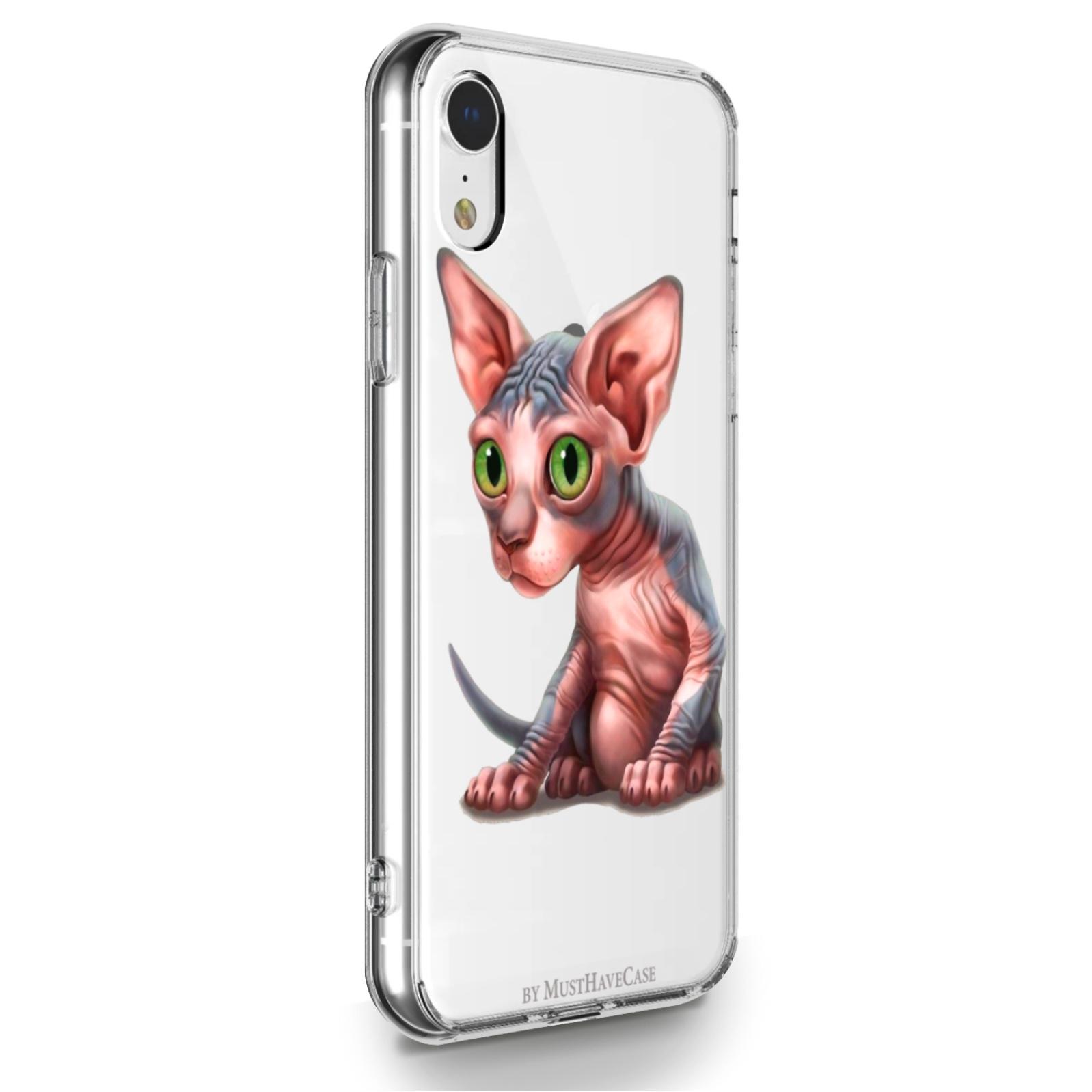 Прозрачный силиконовый чехол для iPhone XR Sphinx/ Сфинкс для Айфон 10R