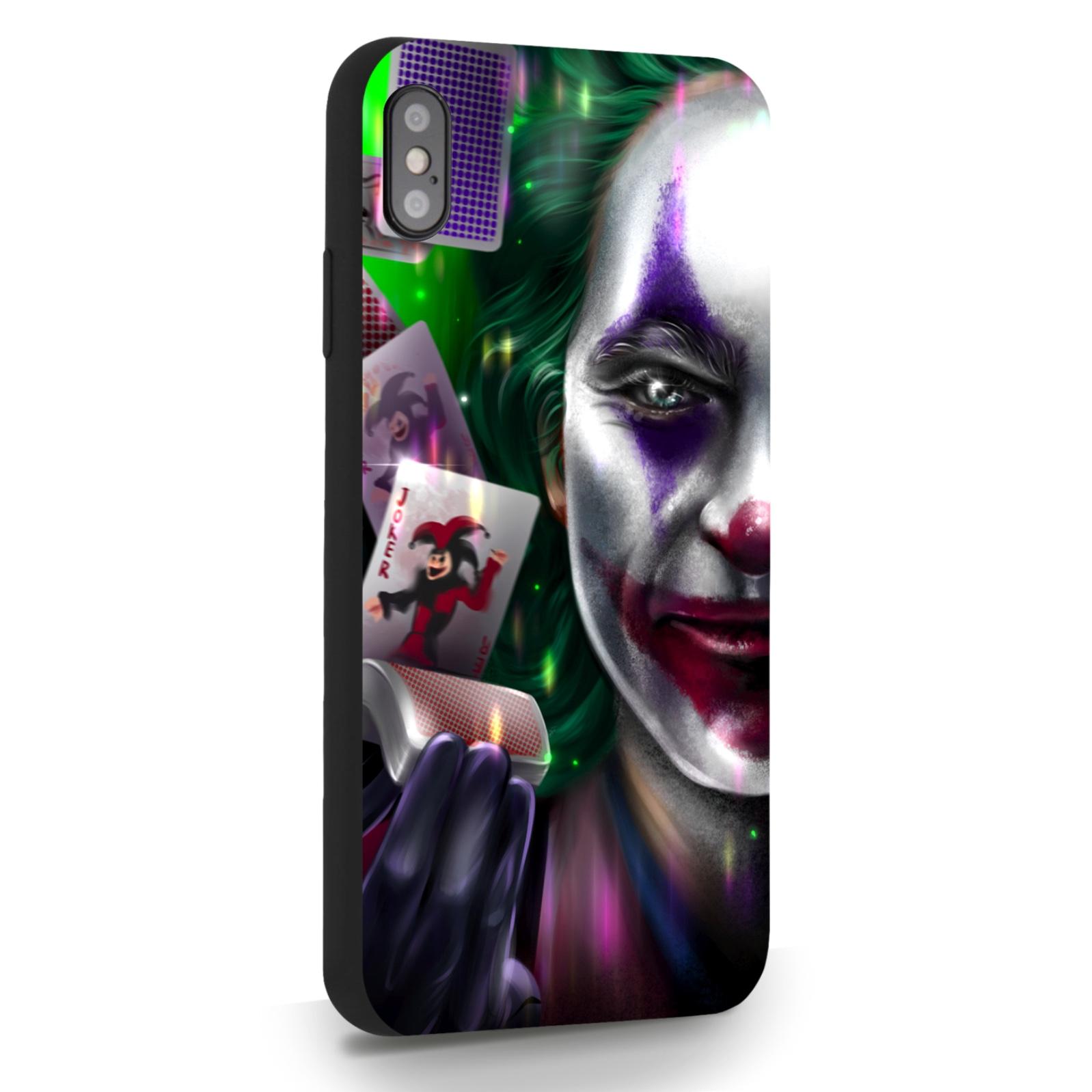 Черный силиконовый чехол для iPhone XsMax Joker/ Джокер для Айфон 10С Макс