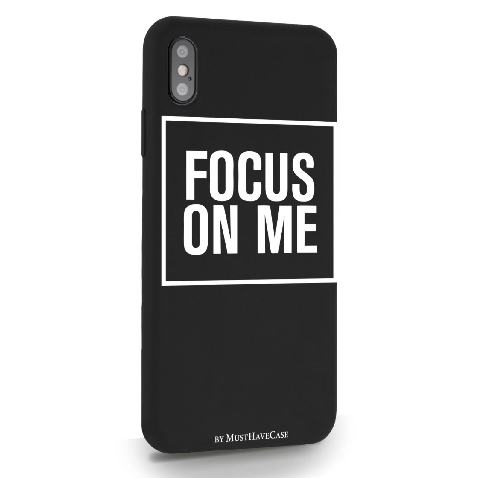 Черный силиконовый чехол для iPhone XS Max Focus on me для Айфон 10C Макс