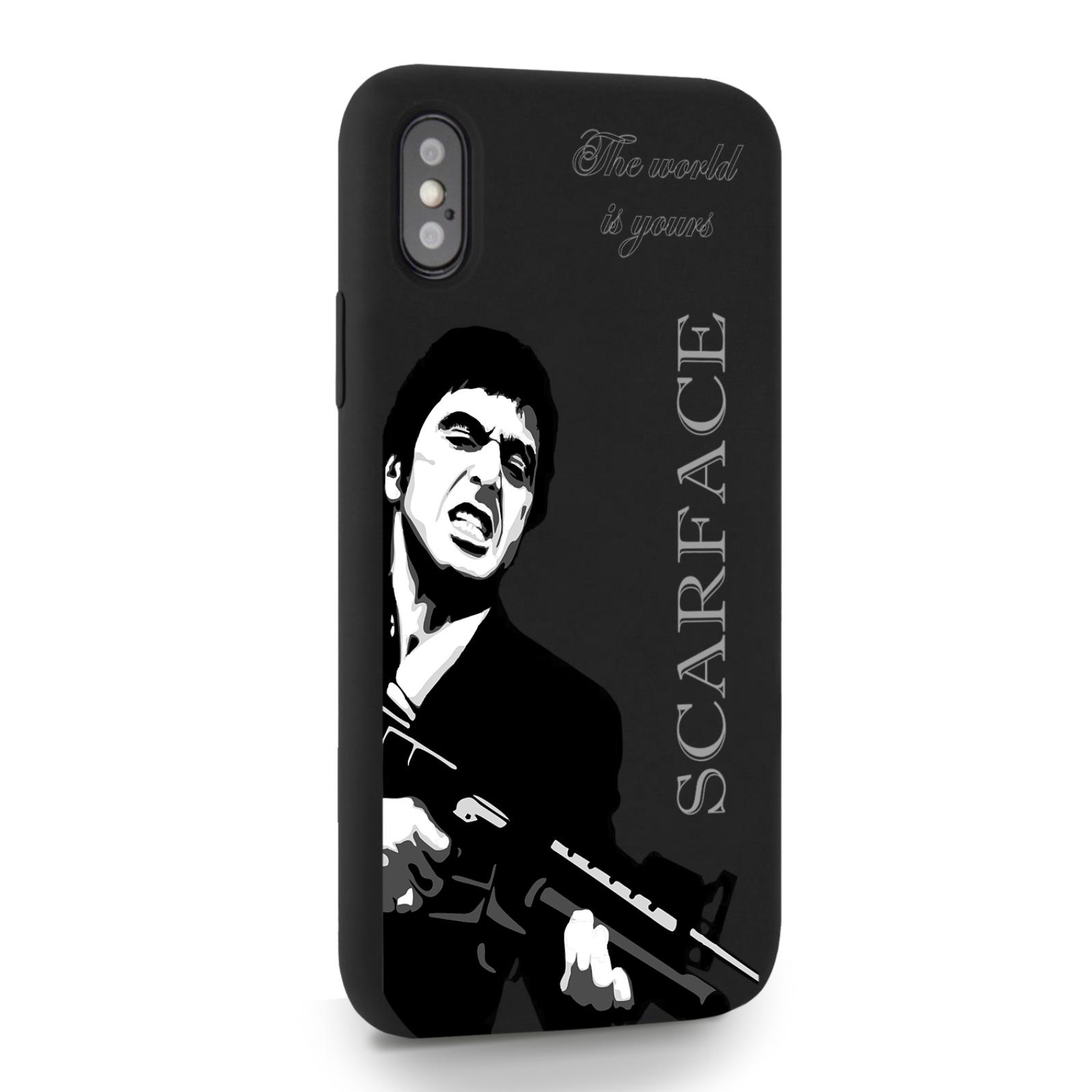 Черный силиконовый чехол для iPhone X/XS Scarface Tony Montana Лицо со шрамом для Айфон 10/10с