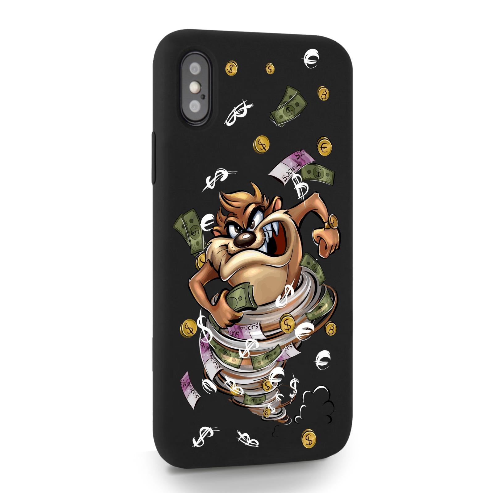 Черный силиконовый чехол для iPhone X/XS Торнадо для Айфон 10/10с