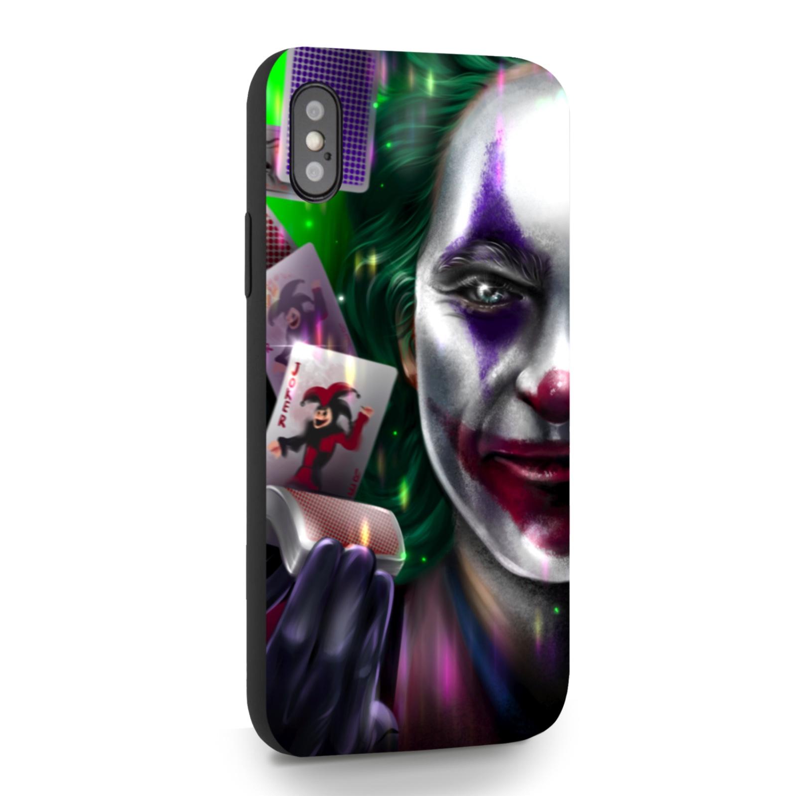 Черный силиконовый чехол для iPhone X/XS Joker/ Джокер для Айфон 10/10с