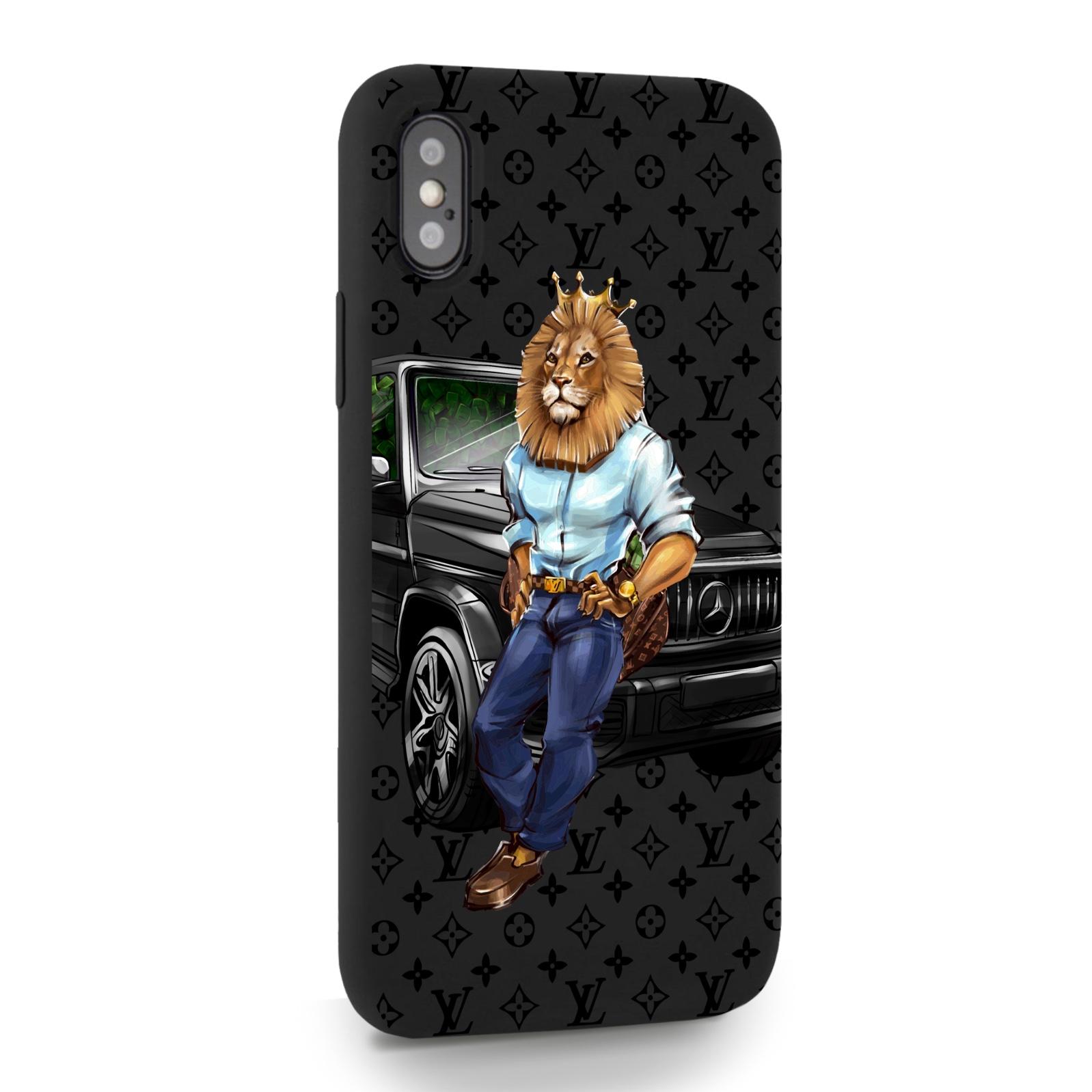 Черный силиконовый чехол для iPhone X/XS Lion Business для Айфон 10/10с