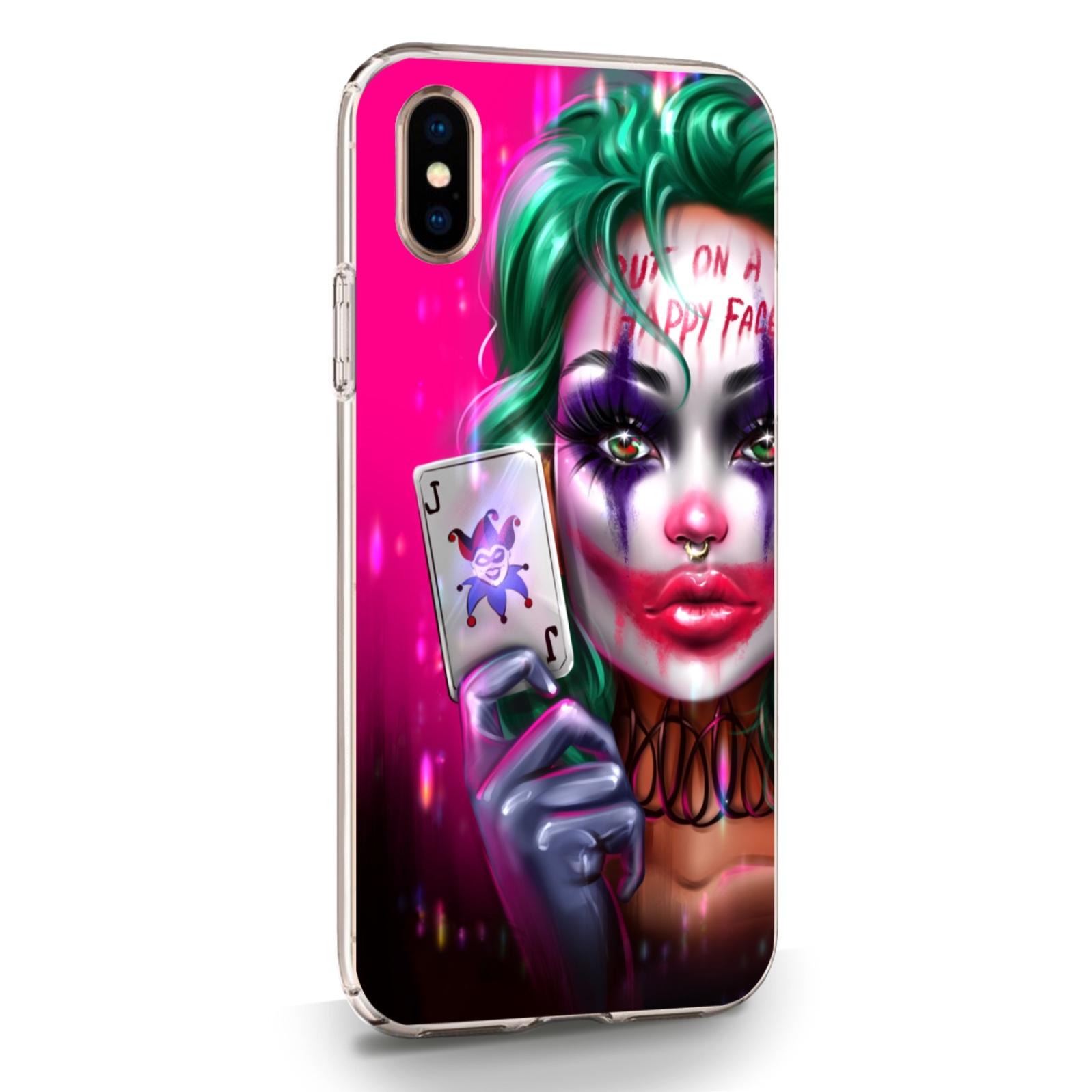 Прозрачный силиконовый чехол для iPhone X/XS JokerGirl/ Харли Квин для Айфон 10/10C