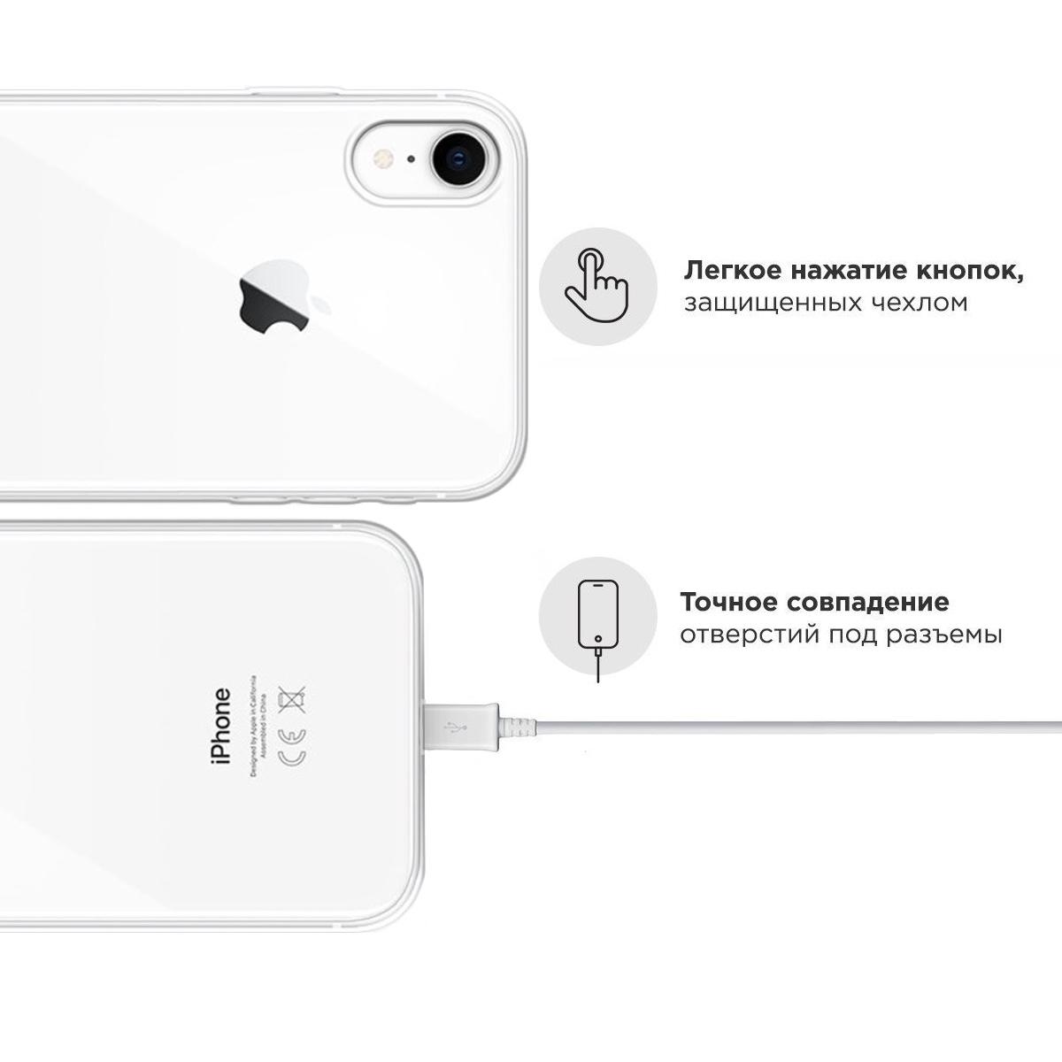 Прозрачный силиконовый чехол для iPhone XR Игривый Заяц для Айфон 10R